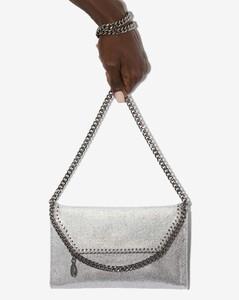 silver Falabella mini cross body bag
