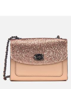Women's Glitter Blocked Parker 18 Shoulder Bag - Nude Pink