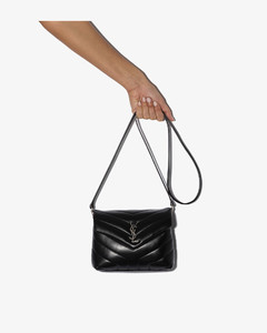 Black Loulou Toy Leather Shoulder Bag