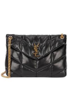 Loulou medium black leather shoulder bag