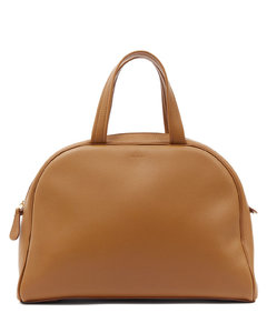 Grained-leather bowling bag