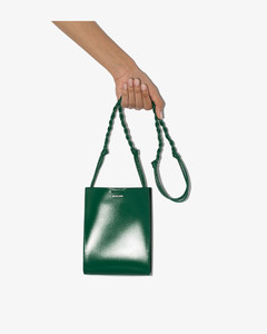 green Tangle small leather cross body bag