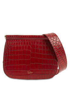 Silvia2 Croc Embossed Leather Bag