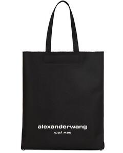 Logo Print Nylon Tote Bag