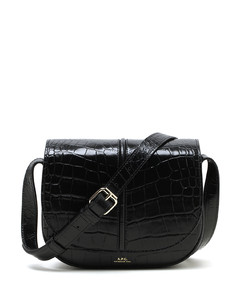 Betty croc-effect leather crossbody bag