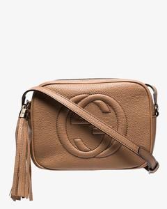 beige Soho disco leather camera bag