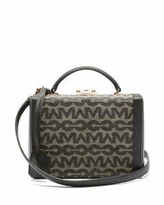 Grace small logo-jacquard & leather box bag