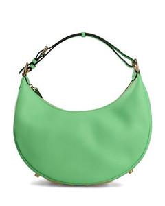 Sabrina Croc-Embossed Handbag in Black