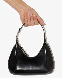 Black Baby Amber Patent Leather Shoulder Bag