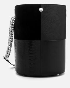 Women's Genesis Patchwork Bucket Bag - Black