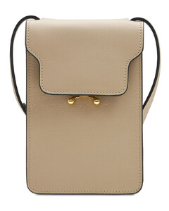 Soft Leather Vertical Trunk Shoulder Bag