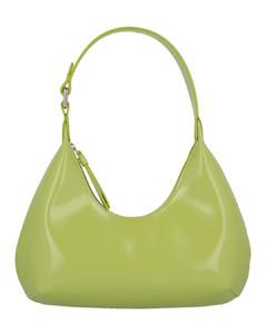 Baby Amber green leather shoulder bag