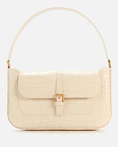 Women's Miranda Croco Shoulder Bag - Cream