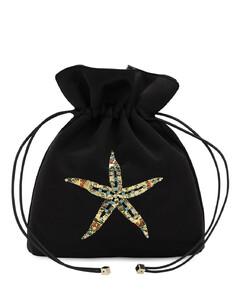 Trilly Satin & Crystal Sea Star Clutch
