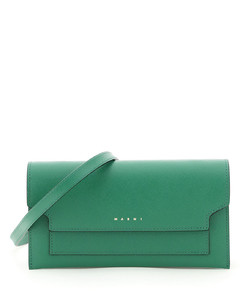 Clutches Marni for Women Emerald Light Camel