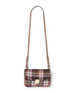 Tweed pouch shoulder bag