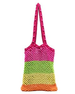 Red leather Jade shoulder bag