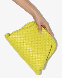 green The Pouch leather clutch bag