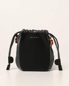 Gusset leather bag