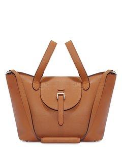 Thela Medium Tote Bag- Zipper Tan