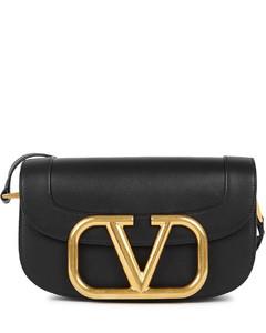 Garavani My VLogo black leather saddle bag