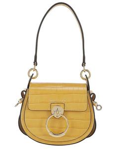 Chloe Crocodile Embossed Leather Small Tess Shoulder Bag
