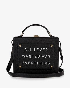 Art Bag 'All I ever wanted is everything'- Olivia Steele- Black