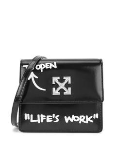Jitney 0.7 black leather cross-body bag