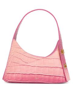 Sea green leather micro Baguette Swipe handbag