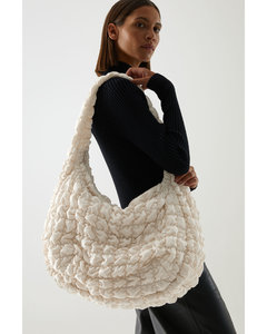 RECYCLED POLYESTER QUILTED OVERSIZED SHOULDER BAG
