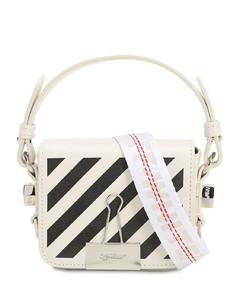 Printed Stripe Baby Leather Shoulder Bag