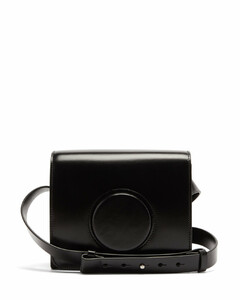 Camera small leather cross-body bag