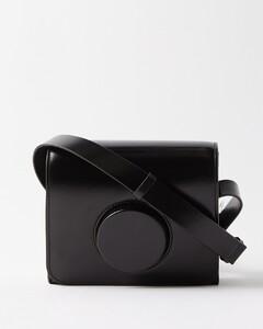 Camera small leather cross-body bag