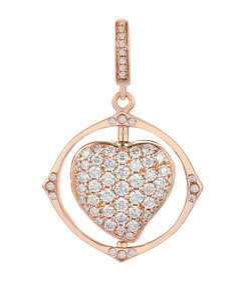 Mythology Rose Gold Spinning Heart Charm