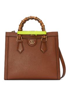 small bamboo-handle tote bag