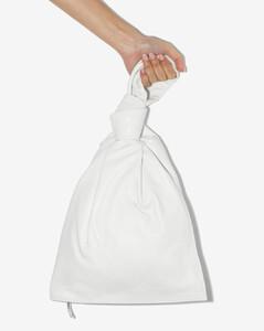 white BV Twist leather clutch bag