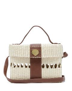 X Loulou de Saison straw cross-body bag