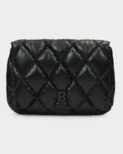 Touch Puffy Clutch In Black Quilted Nappa Leather