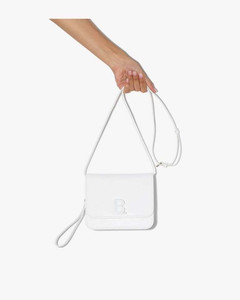 white B. small lizard effect leather shoulder bag