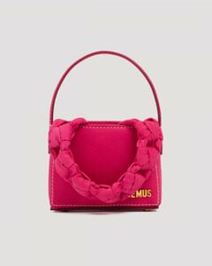 Pink Le petit sac noeud leather bag