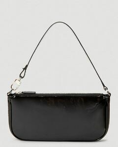 Rachel Patent Leather Shoulder Bag in Black