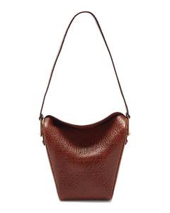 Folded small leather shoulder bag