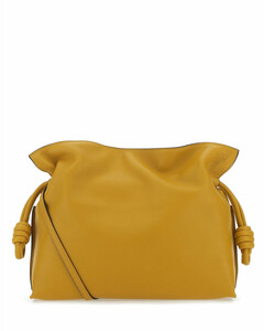 Mustard nappa leather medium Flamenco clutch