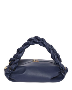 Handbag BALTI nappa leather logo silver