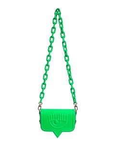 Mini Bag in eco-leather and raffia