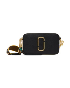 bag in textured leather with logo