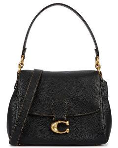 May black leather shoulder bag