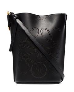 Gate Black Ladies Anagram Bucket Bag
