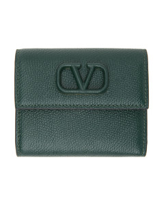 Skull Four Rings crocodile-effect leather clutch