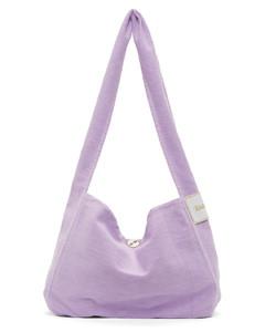紫色帆布单肩包